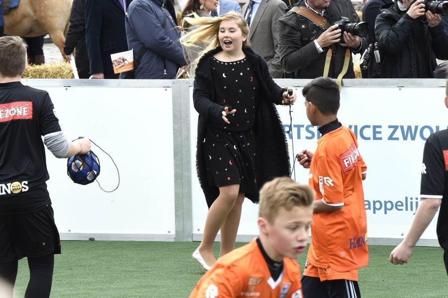 La princesse Catharina-Amalia des Pays-Bas à Zwolle, le 27 avril 2016