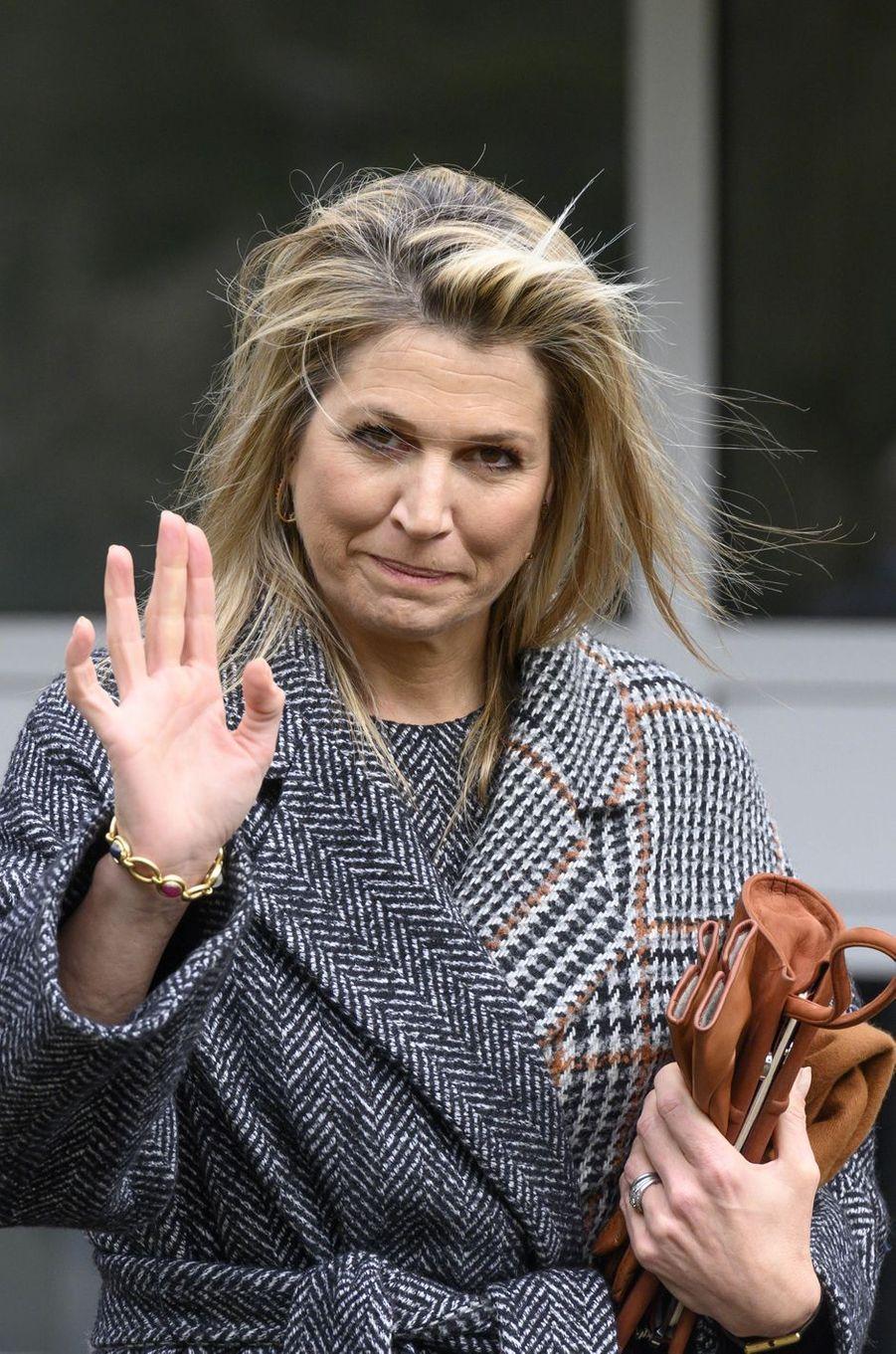 La reine Maxima des Pays-Bas à Bilthoven, le 3 avril 2020