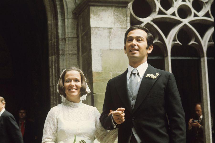 La princesse Christina des Pays-Bas le jour de son mariage avec Jorge Guillermo, le 28 juin 1975