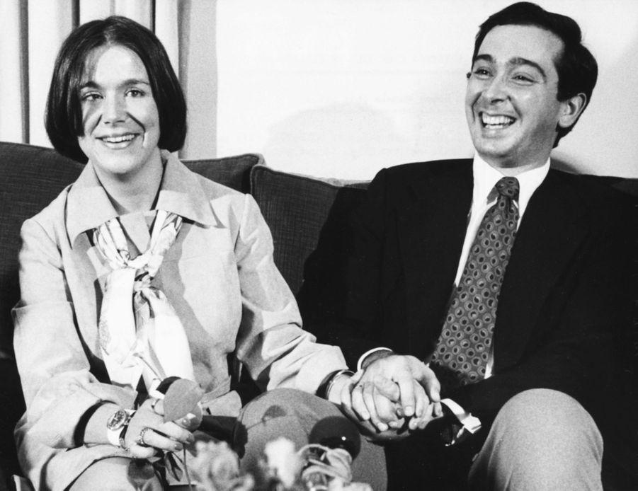 La princesse Christina des Pays-Bas avec son fiancé Jorge Guillermo, en 1975
