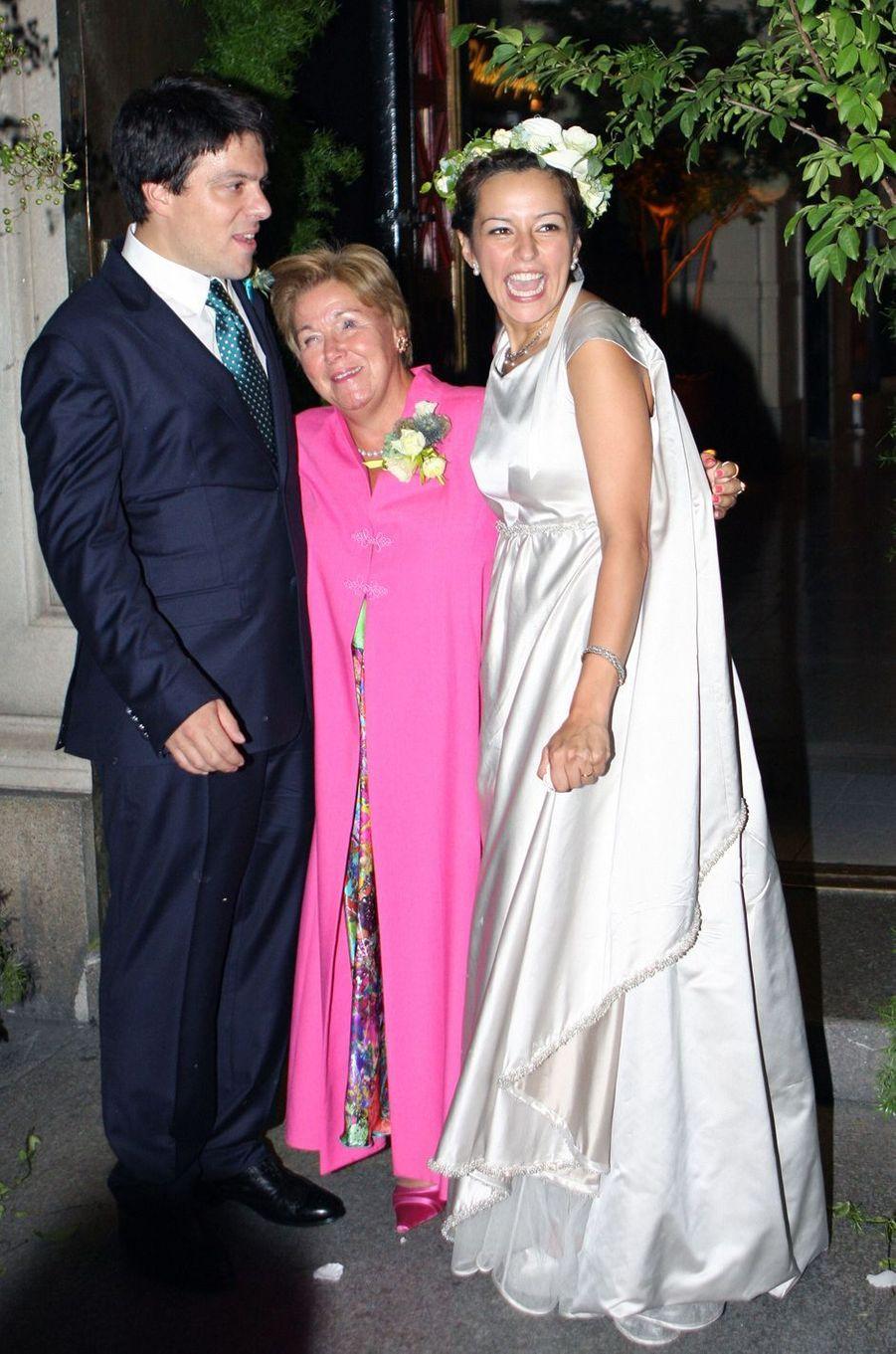 La princesse Christina des Pays-Bas au mariage de son fils Bernardo Guillermo, le 5 septembre 2009