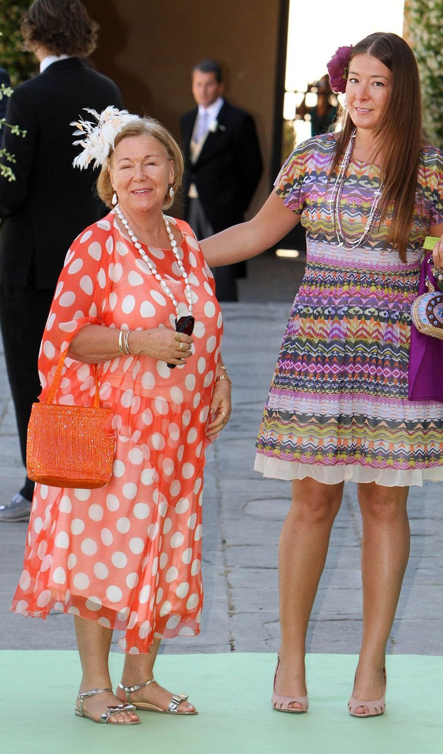 La princesse Christina des Pays-Bas avec sa fille Juliana Guillermo, le 16 juin 2012