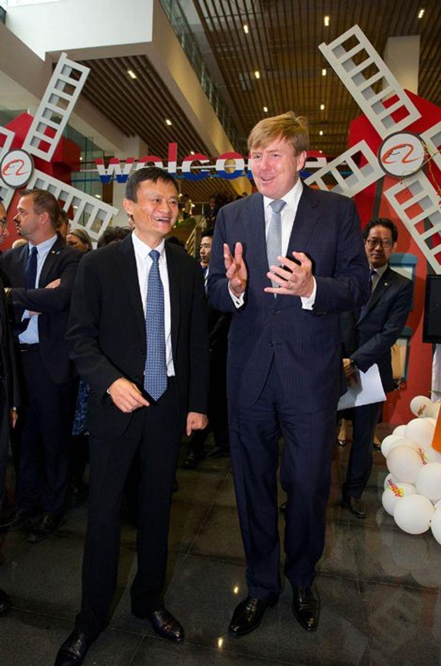 Le roi Willem-Alexander des Pays-Bas à Hangzhou en Chine, le 29 octobre 2015