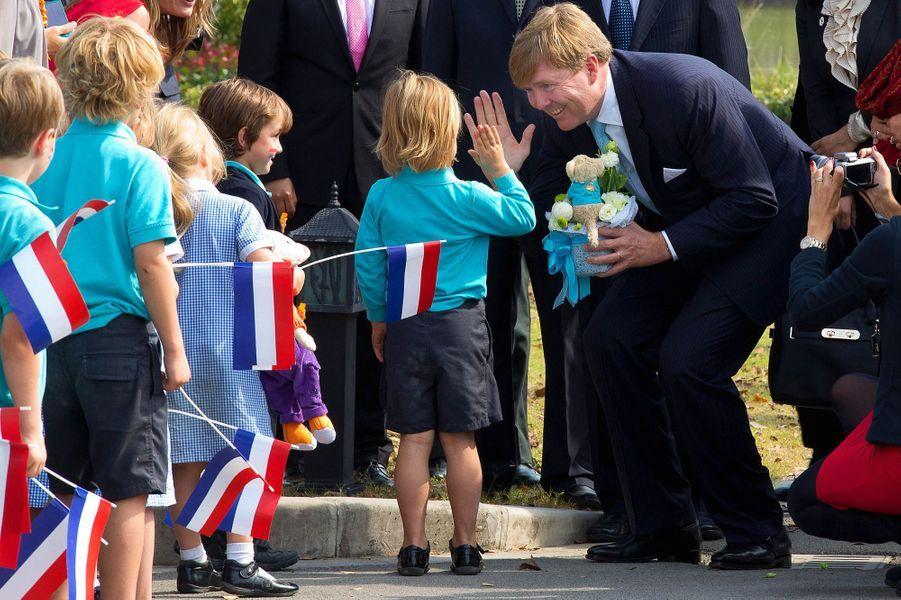Le roi Willem-Alexander des Pays-Bas à Shanghai en Chine, le 28 octobre 2015