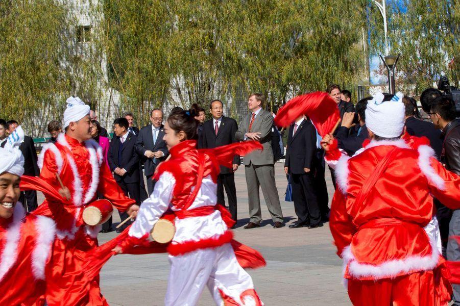Le roi Willem-Alexander des Pays-Bas sur le Plateau de Loess en Chine, le 27 octobre 2015