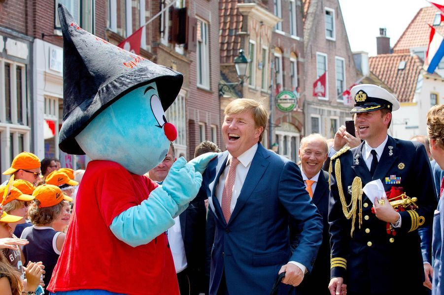 Le roi Willem-Alexander des Pays-Bas à Oudewater, le 3 juillet 2015