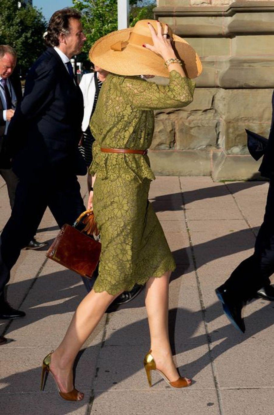 La reine Maxima des Pays-Bas arrive au musée canadien de la Nature à Ottawa, le 28 mai 2015
