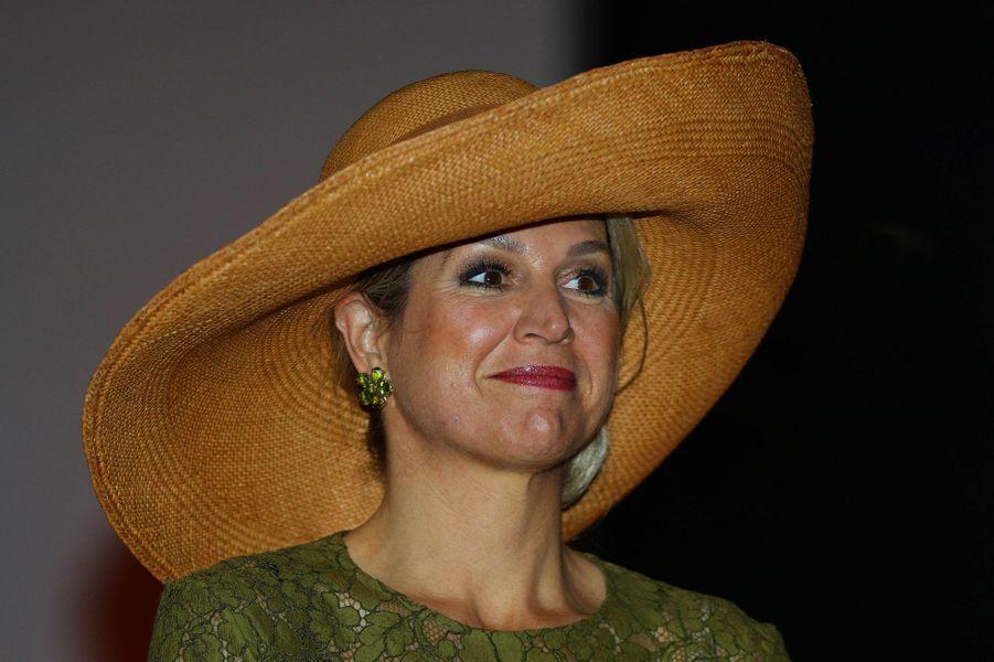 La reine Maxima des Pays-Bas au musée canadien de la Nature à Ottawa, le 28 mai 2015