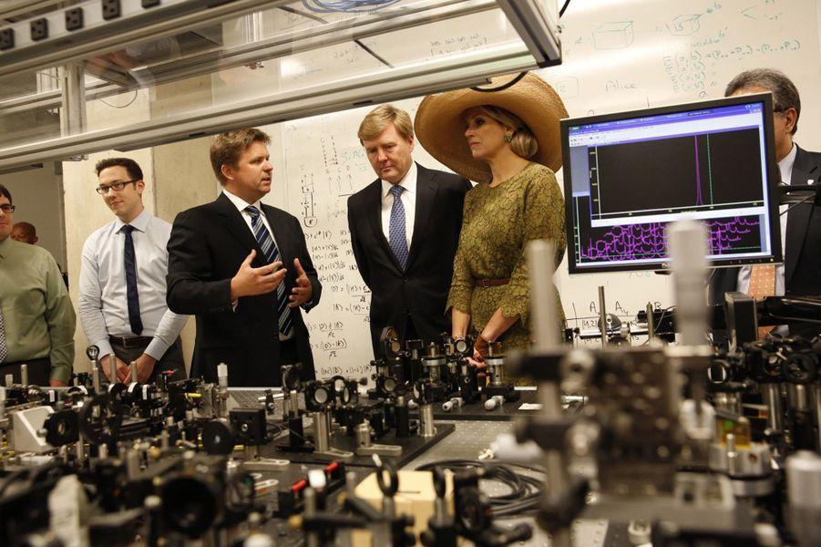La reine Maxima et le roi Willem-Alexander à l'Université de Waterloo, le 28 mai 2015