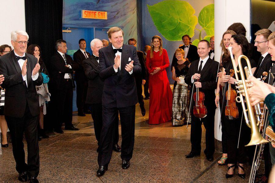 La reine Maxima et le roi Willem-Alexander au musée canadien de l'Histoire à Gatineau, le 28 mai 2015