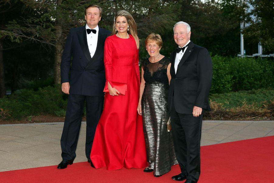 La reine Maxima et le roi Willem-Alexander avec David et Sharon Johnston à Gatineau, le 28 mai 2015