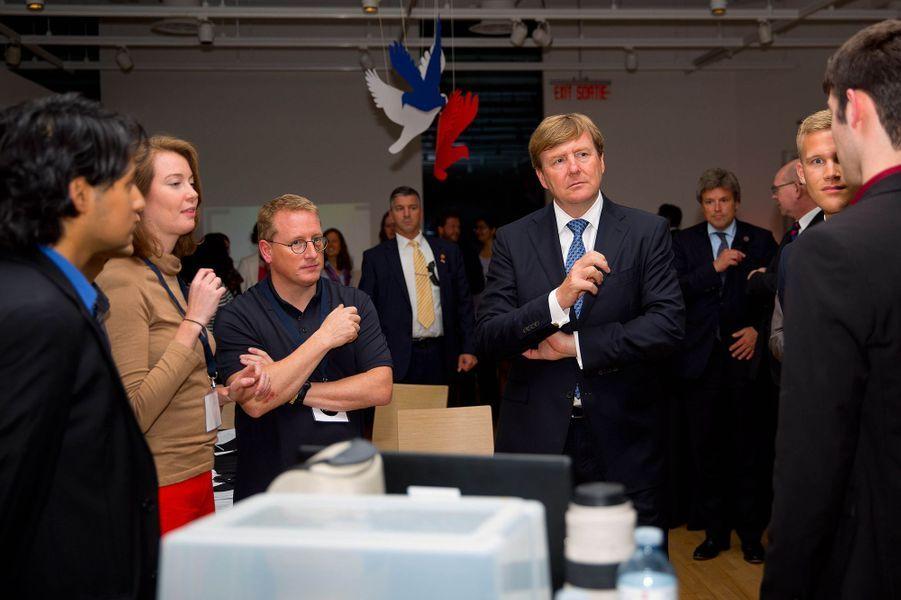 Le roi Willem-Alexander des Pays-Bas au musée canadien de la Nature à Ottawa, le 28 mai 2015