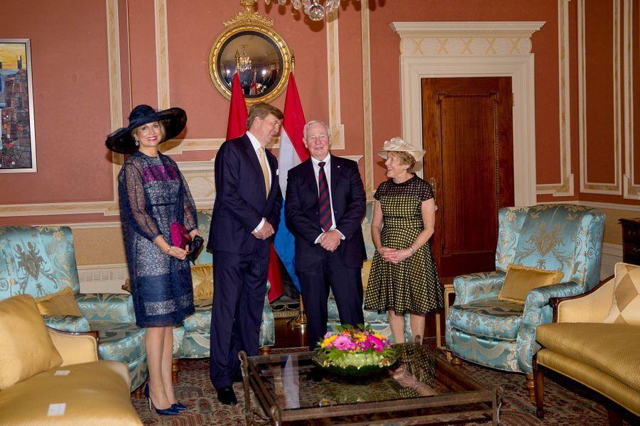 La reine Maxima et le roi Willem-Alexander avec David Johnston et sa femme Sharon à Ottawa, le 27 mai 2015