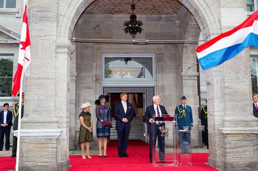 La reine Maxima et le roi Willem-Alexander des Pays-Bas au Rideau Hall à Ottawa, le 27 mai 2015
