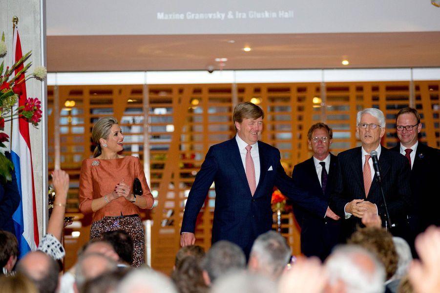 La reine Maxima et le roi Willem-Alexander au musée des Beaux-Arts de l'Ontario à Toronto, le 29 mai 2015