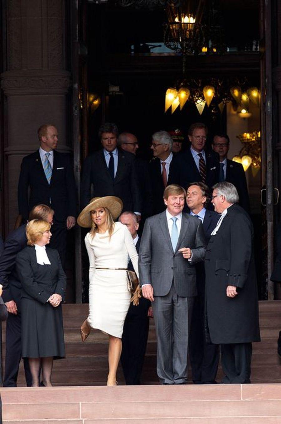 La reine Maxima et le roi Willem-Alexander des Pays-Bas à Toronto, le 29 mai 2015