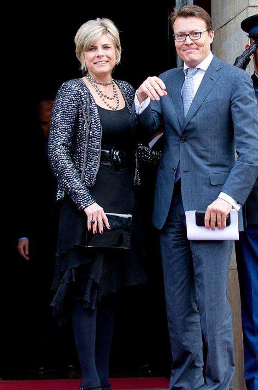 La princesse Laurentien et le prince Constantijn des Pays-Bas à Amsterdam, le 2 décembre 2015