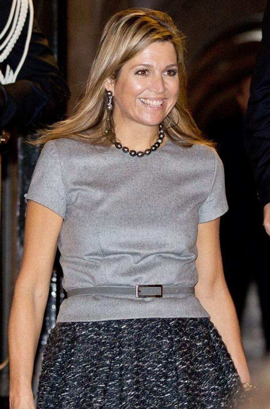 La reine Maxima des Pays-Bas à Amsterdam, le 2 décembre 2015