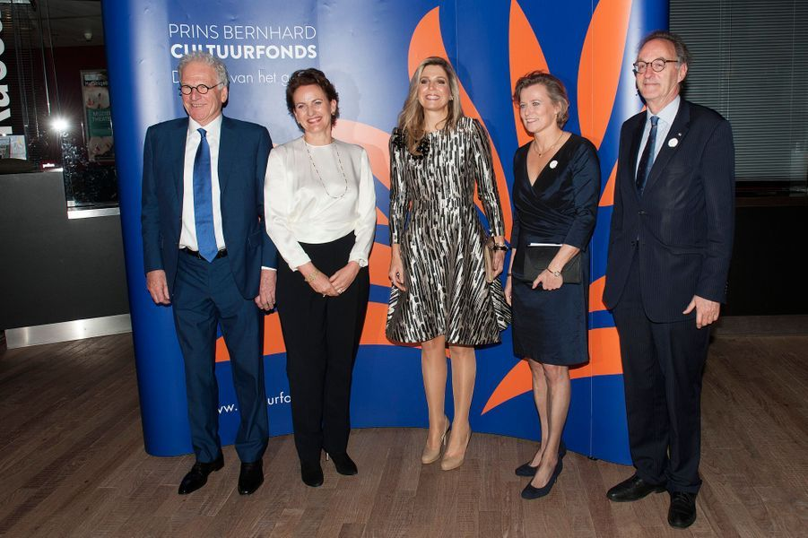La reine Maxima des Pays-Bas à Amsterdam, le 30 novembre 2015