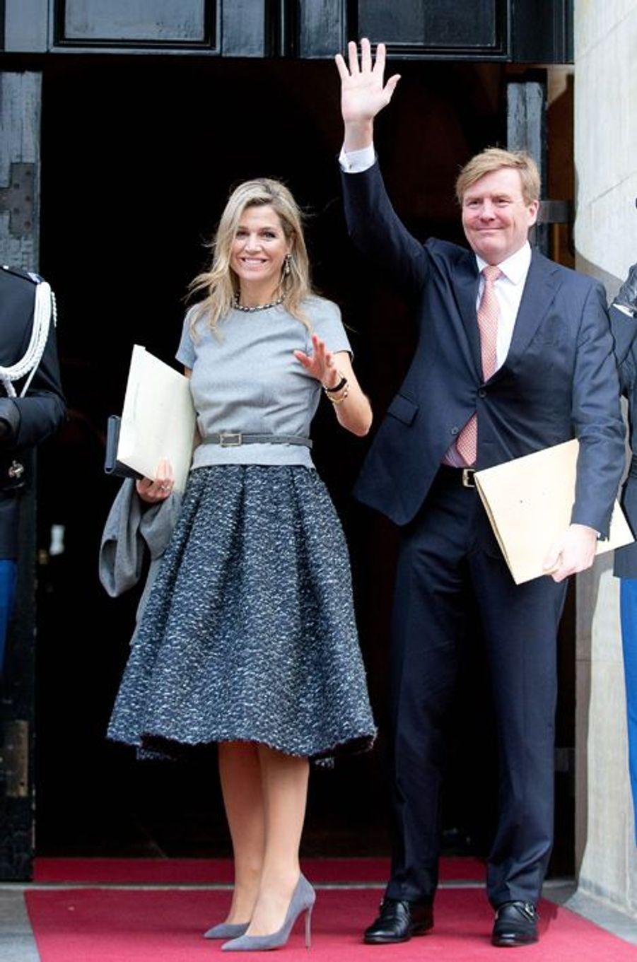 La reine Maxima et le roi Willem-Alexander des Pays-Bas à Amsterdam, le 2 décembre 2015