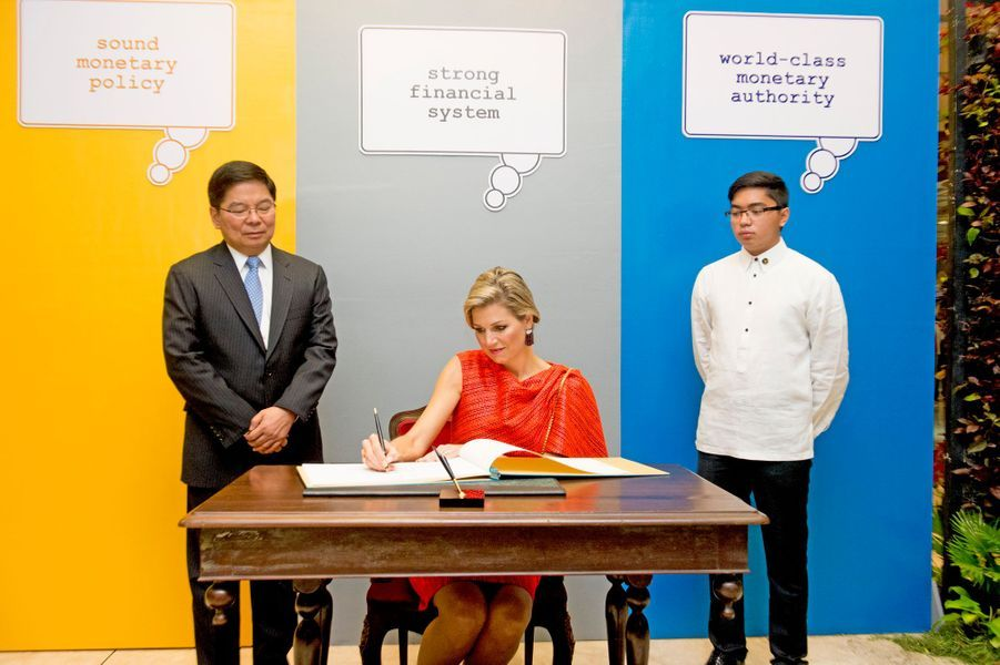 La reine Maxima des Pays-Bas à Manille, le 1er juillet 2015