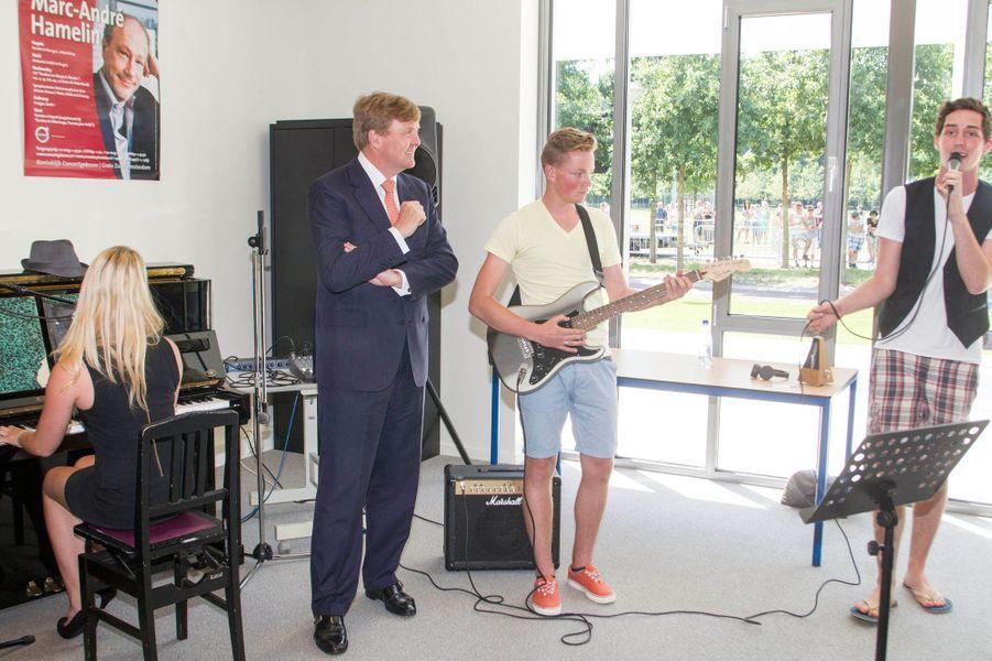 Le roi Willem-Alexander des Pays-Bas à Heerde, le 1er juillet 2015