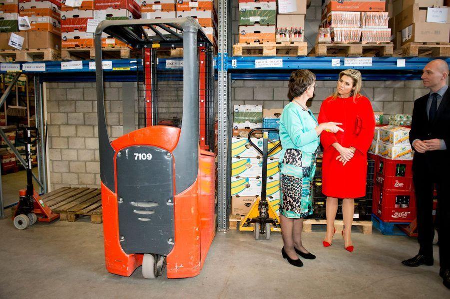 La reine Maxima des Pays-Bas à la fondation Food Focus à Amersfoort, le 14 avril 2015