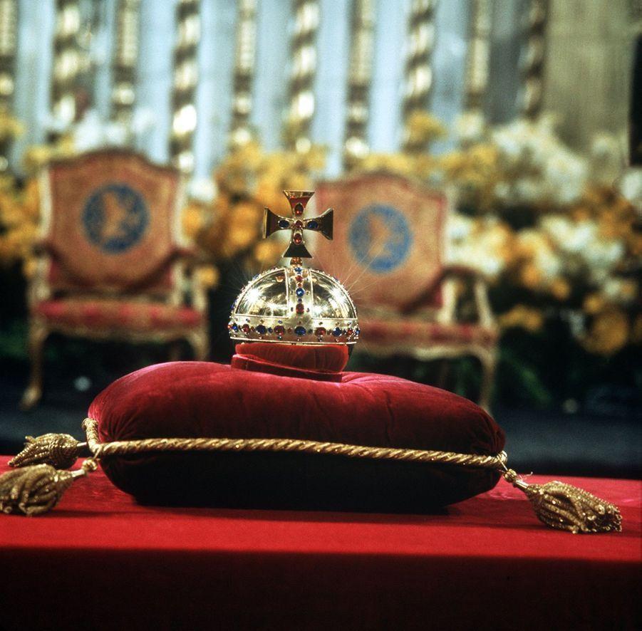 L'orbe lors de l'intronisation de la reine Beatrix des Pays-Bas, le 30 avril 1980 à Amsterdam