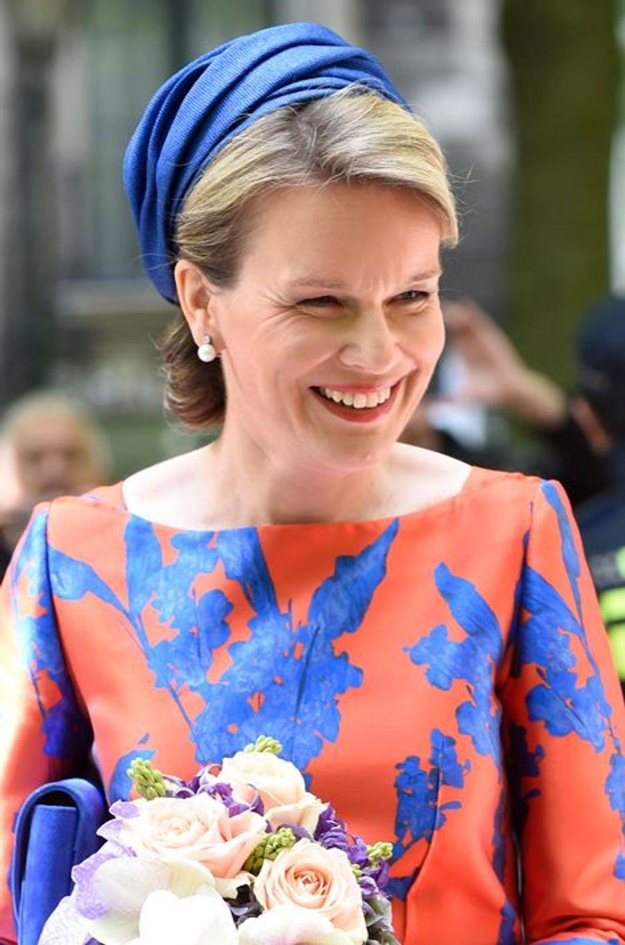 La reine Mathilde de Belgique à La Haye, le 20 mai 2015