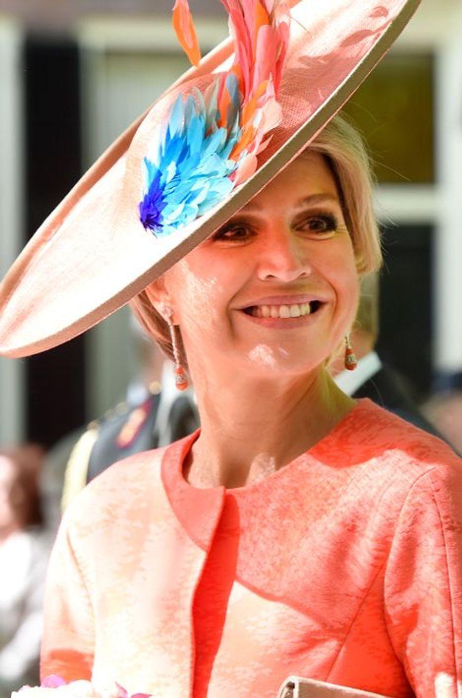 La reine Maxima des Pays-Bas à La Haye, le 20 mai 2015