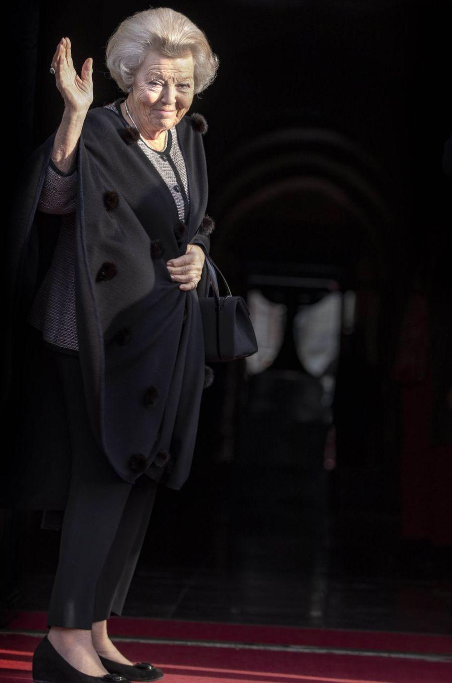 L'ex-reine Beatrix des Pays-Bas à Amsterdam, le 15 janvier 2019