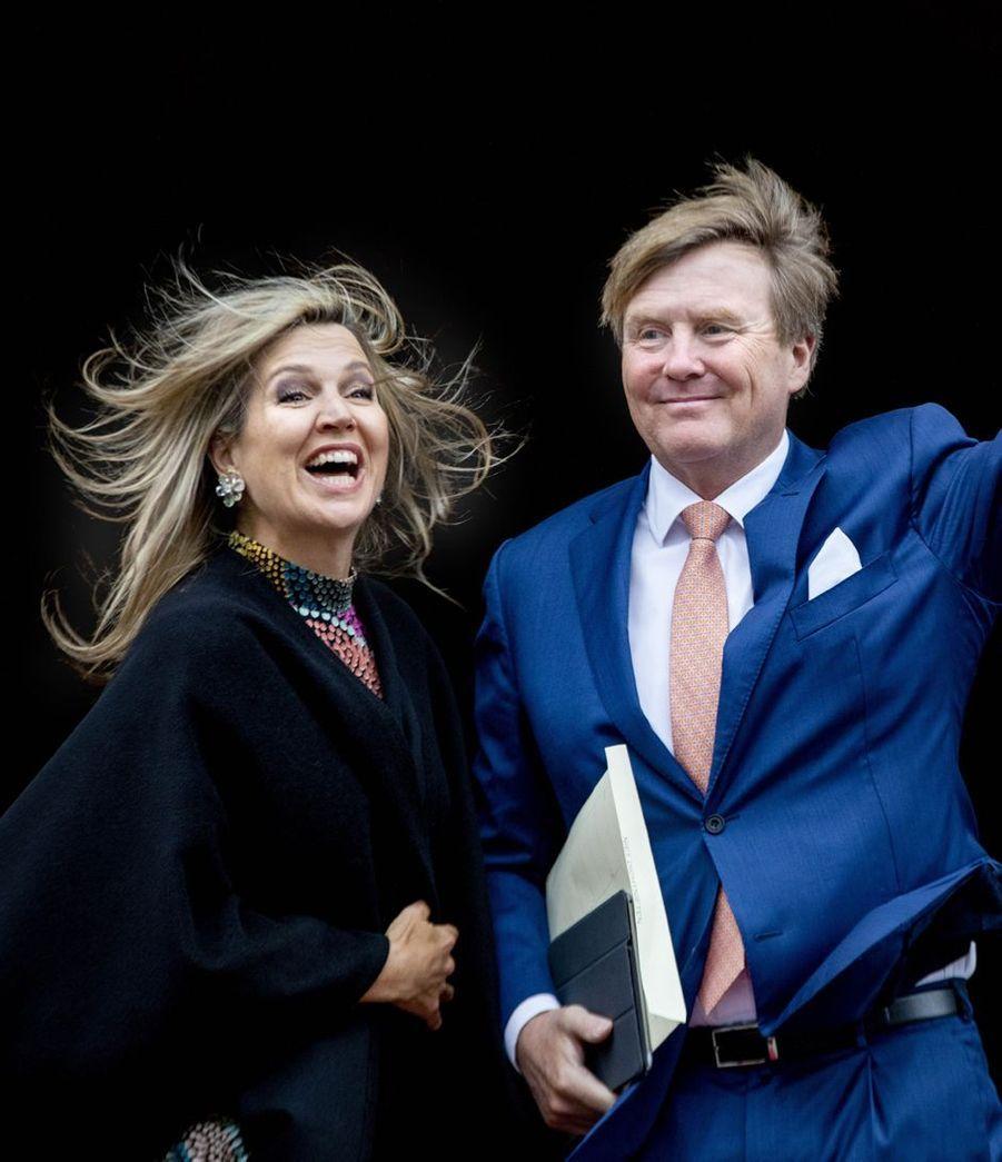 La reine Maxima et le roi Willem-Alexander des Pays-Bas à Amsterdam, le 15 janvier 2019