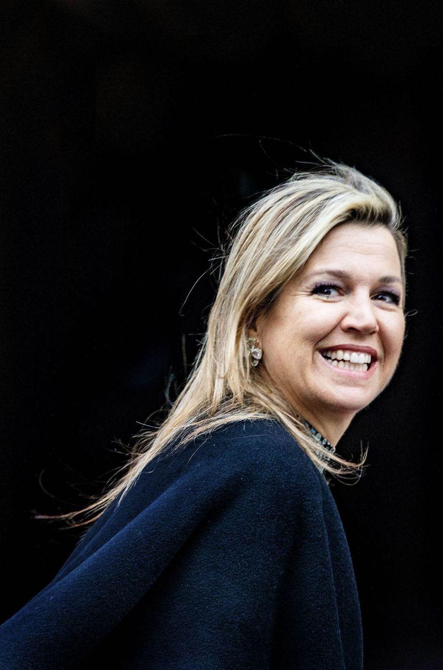La reine Maxima des Pays-Bas à Amsterdam, le 15 janvier 2019