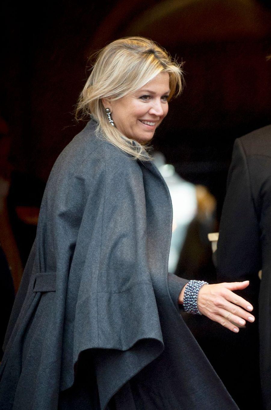 La reine Maxima des Pays-Bas à Amsterdam, le 16 janvier 2019