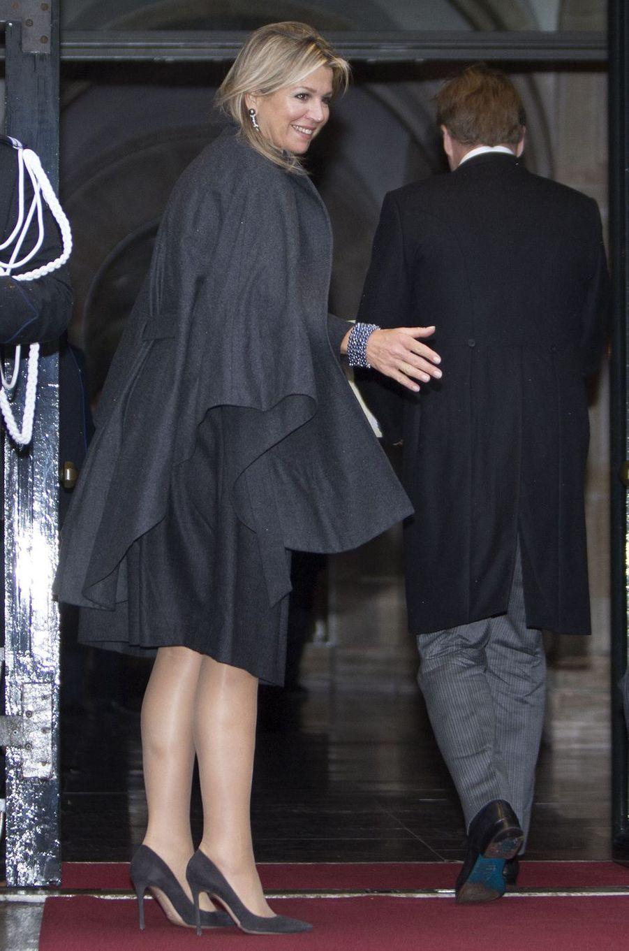 La reine Maxima et le roi Willem-Alexander des Pays-Bas à Amsterdam, le 16 janvier 2019