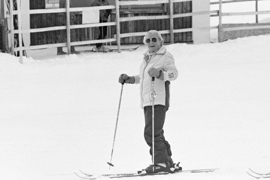 L'ex-reine Juliana des Pays-Bas à Lech, le 1er mars 1985