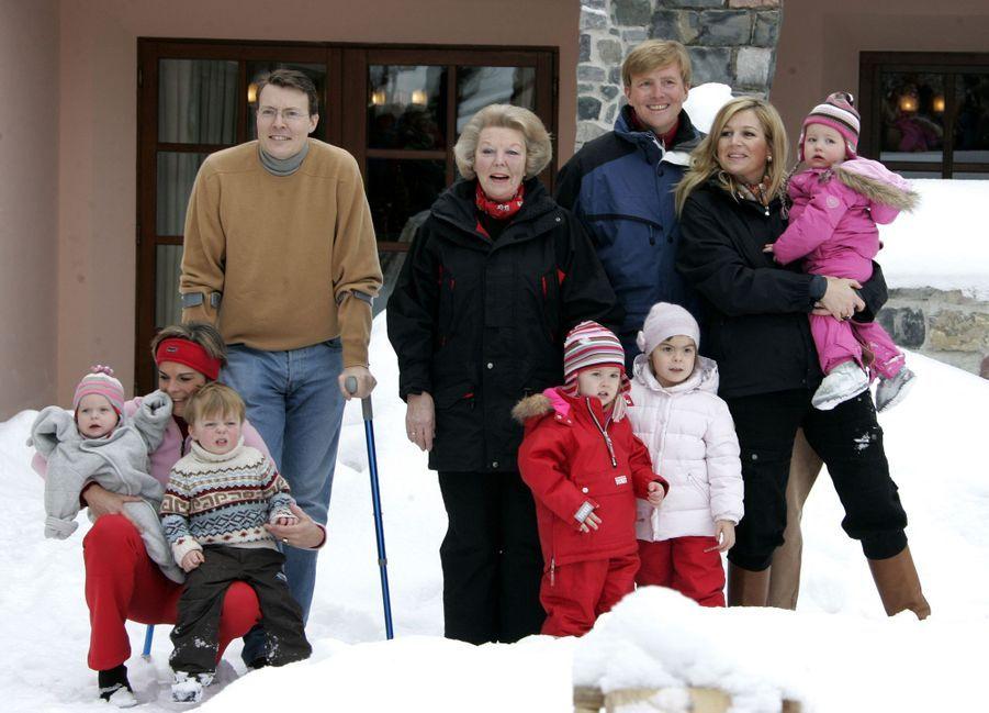 La famille royale des Pays-Bas à Lech, le 11 février 2007