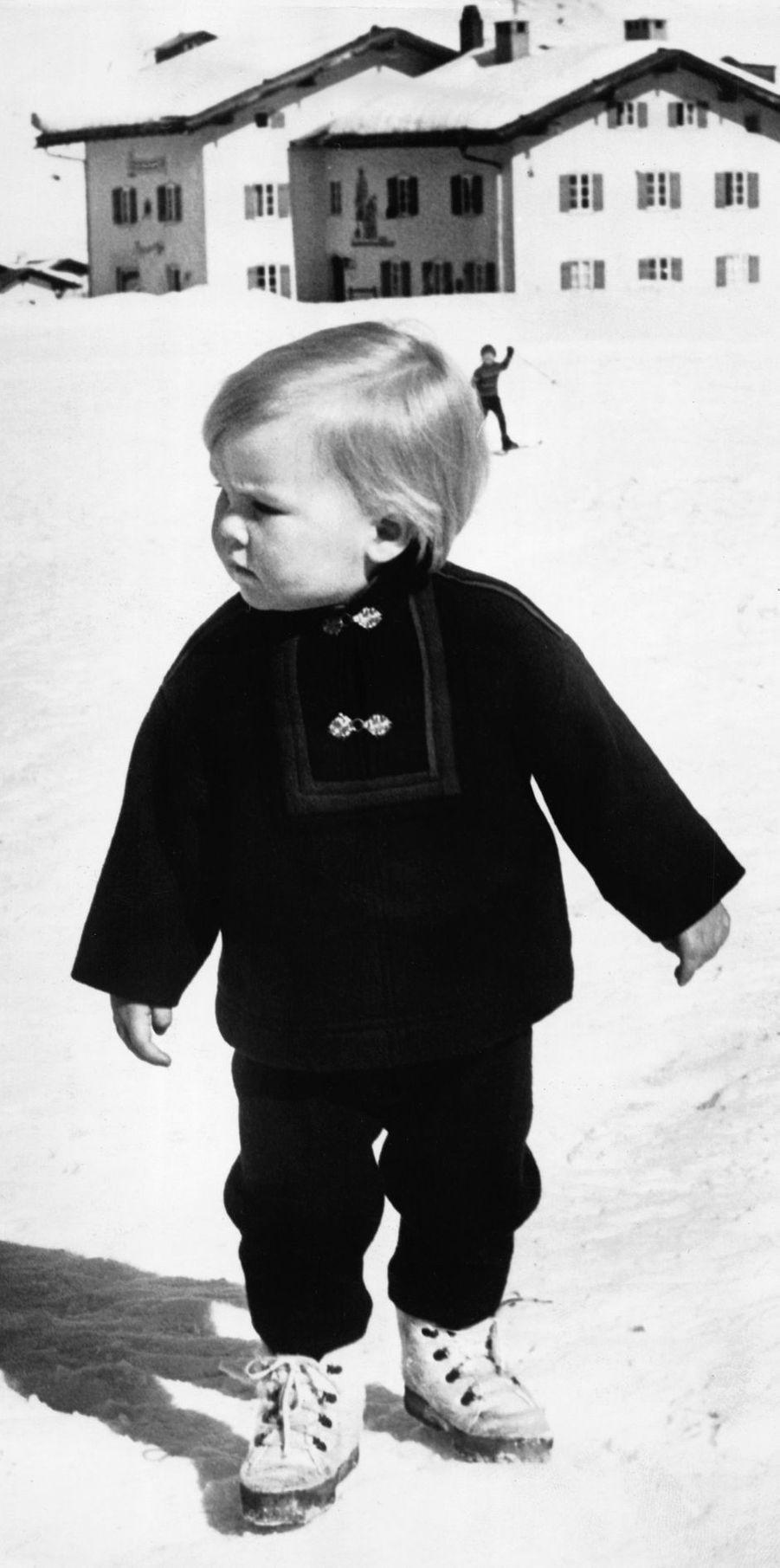 Le prince Willem-Alexander des Pays-Bas, le 10 mars 1969