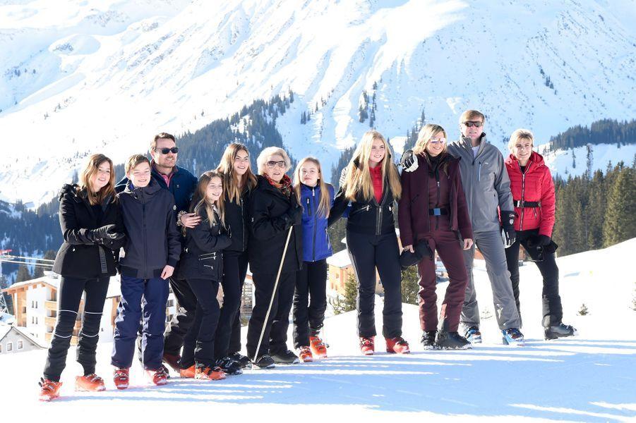 La famille royale des Pays-Bas à Lech, le 25 février 2019
