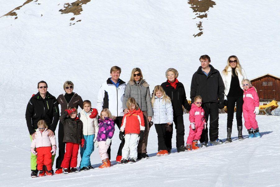 La famille royale des Pays-Bas à Lech, le 19 février 2011