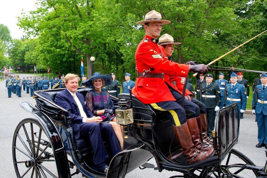 La reine Maxima des Pays-Bas avec le roi Willem-Alexander à Ottawa, le 27 mai 2015