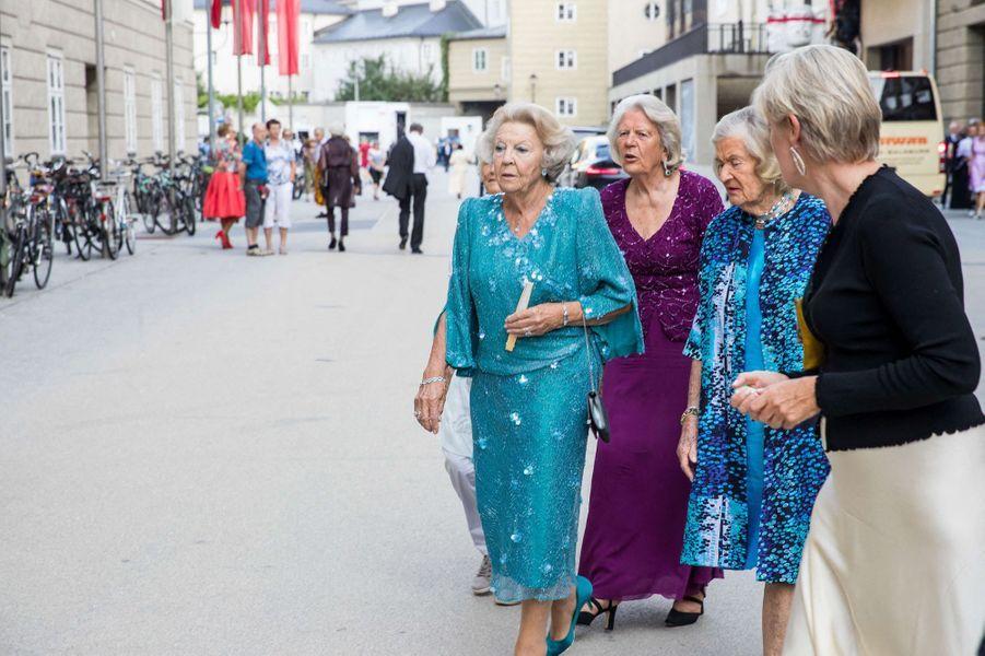 L'ex-reine Beatrix des Pays-Bas à Salzbourg en Autriche, le 27 août 2019