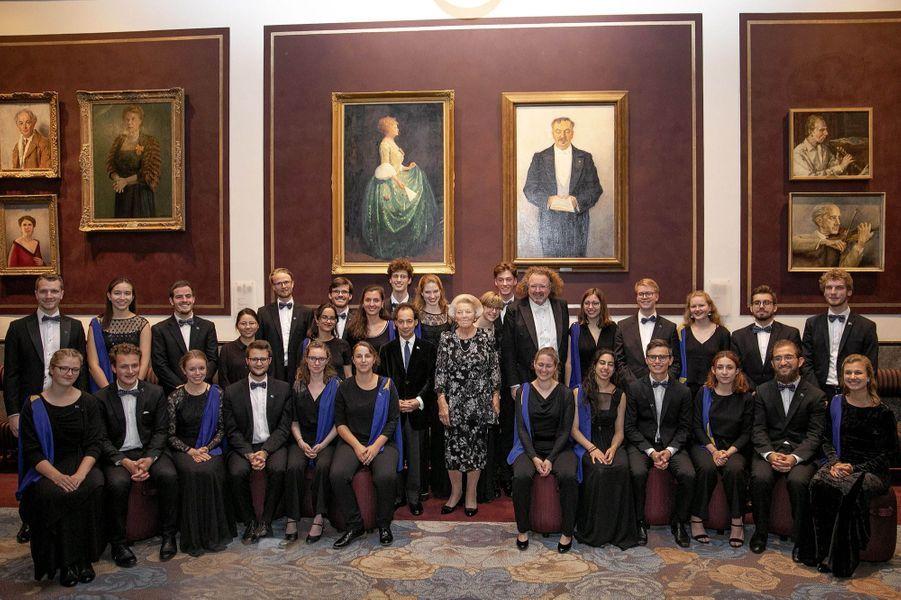 L'ex-reine Beatrix des Pays-Bas, le 15 août 2019 à Amsterdam
