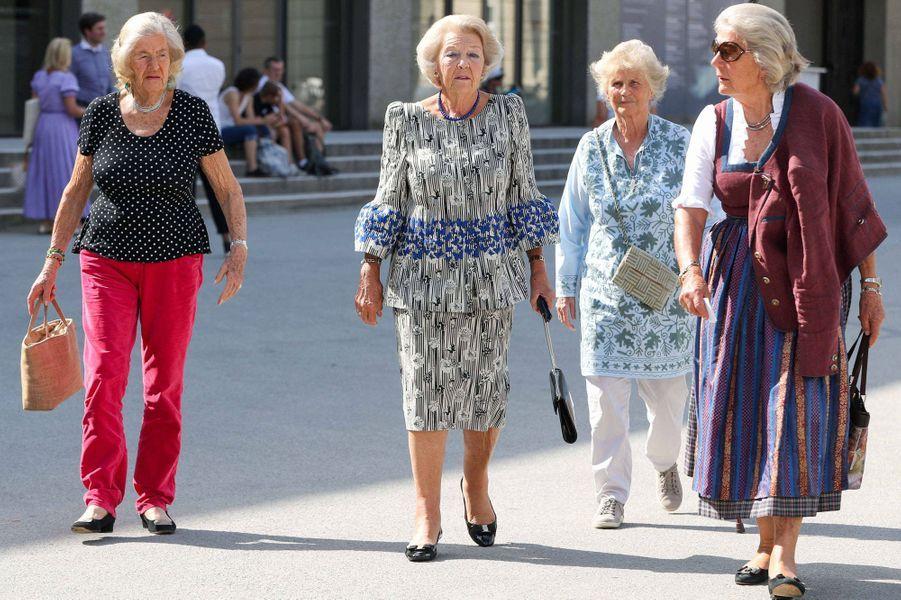 L'ex-reine Beatrix des Pays-Bas à Salzbourg en Autriche, le 28 août 2019