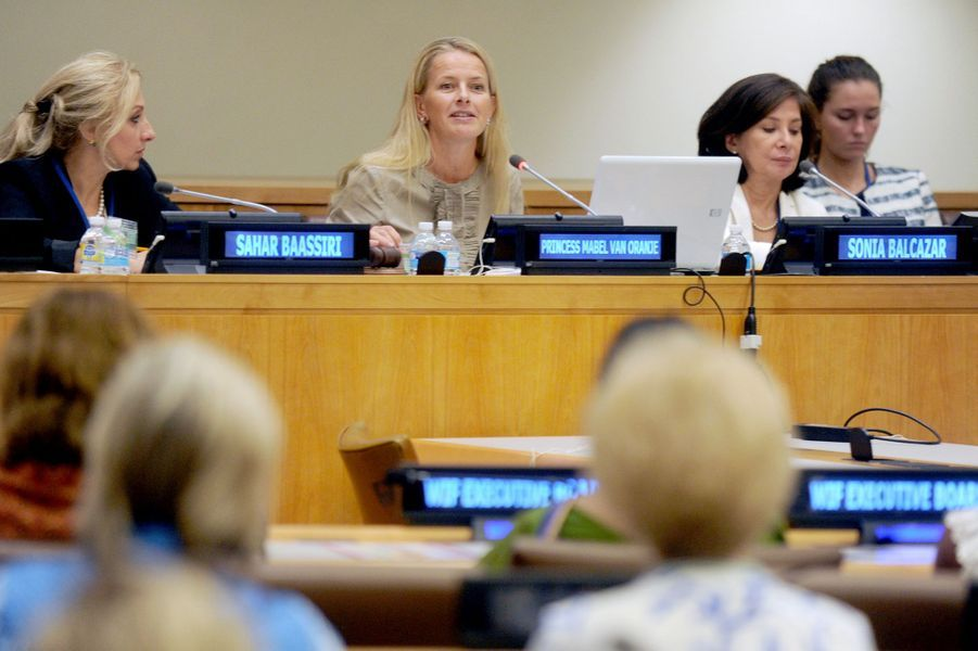 La princesse Mabel des Pays-Bas aux Nations Unies à New York, le 14 septembre 2015