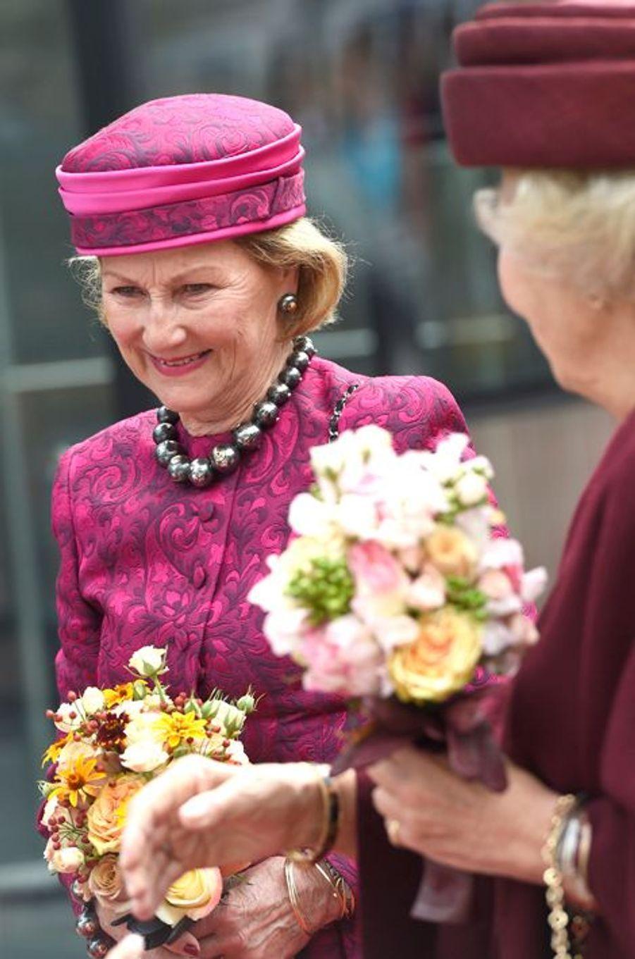 La reine Sonja de Norvège à Amsterdam, le 23 septembre 2015