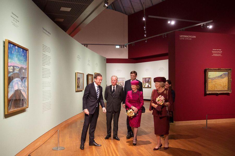 La reine Sonja de Norvège et la princesse Beatrix des Pays-Bas à Amsterdam, le 23 septembre 2015