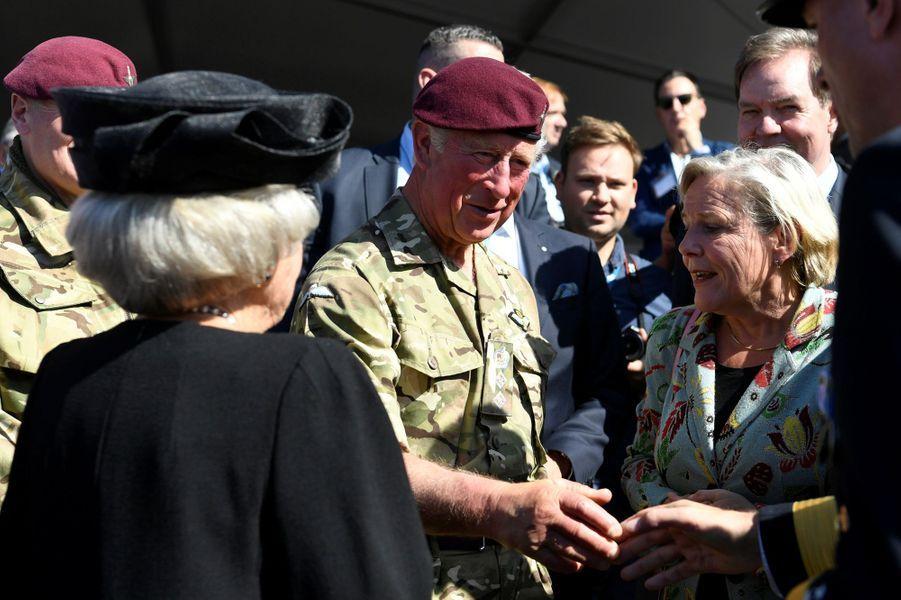 L'ex-reine Beatrix des Pays-Bas et le prince Charles à Ede, le 21 septembre 2019