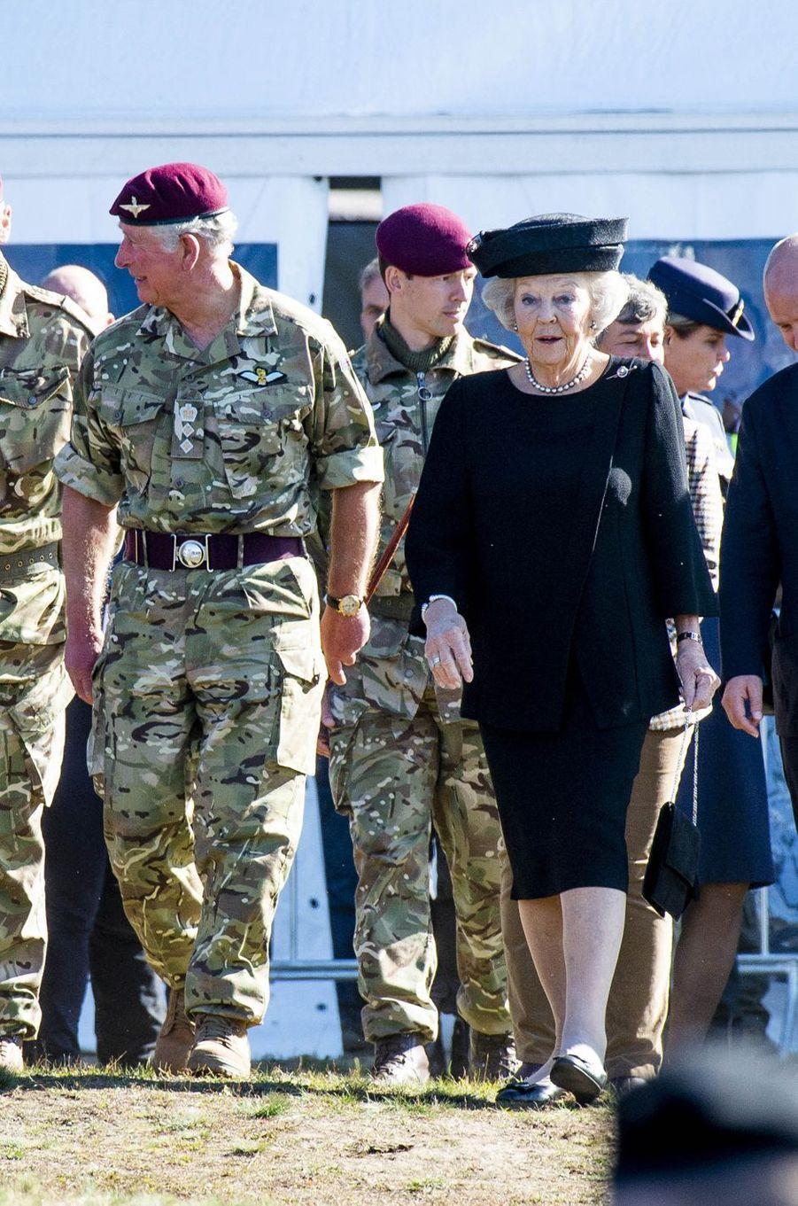 Le prince Charles et l'ex-reine Beatrix des Pays-Bas à Ede, le 21 septembre 2019
