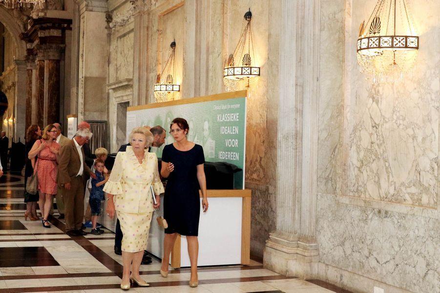 L'ex-reine Beatrix des Pays-Bas au Palais royal d'Amsterdam, le 2 juillet 2015